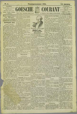 Goessche Courant 1924-01-01