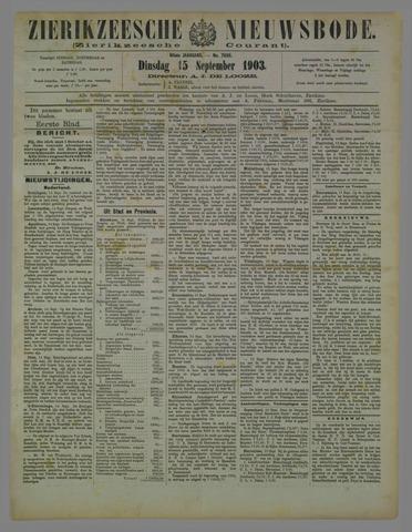 Zierikzeesche Nieuwsbode 1903-09-15