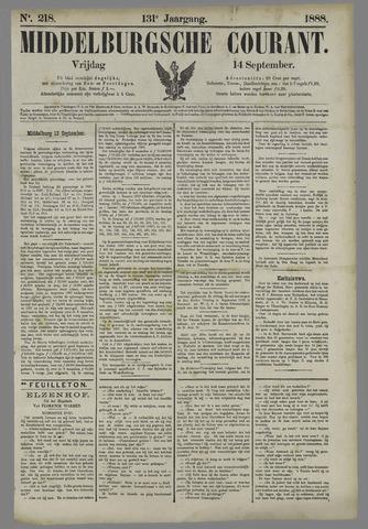 Middelburgsche Courant 1888-09-14