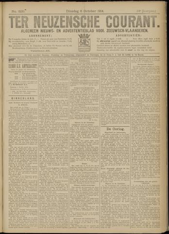 Ter Neuzensche Courant. Algemeen Nieuws- en Advertentieblad voor Zeeuwsch-Vlaanderen / Neuzensche Courant ... (idem) / (Algemeen) nieuws en advertentieblad voor Zeeuwsch-Vlaanderen 1914-10-06