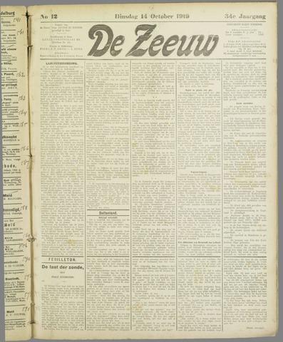 De Zeeuw. Christelijk-historisch nieuwsblad voor Zeeland 1919-10-14