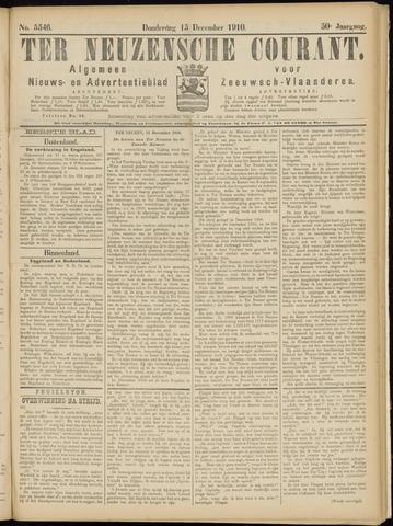 Ter Neuzensche Courant. Algemeen Nieuws- en Advertentieblad voor Zeeuwsch-Vlaanderen / Neuzensche Courant ... (idem) / (Algemeen) nieuws en advertentieblad voor Zeeuwsch-Vlaanderen 1910-12-15