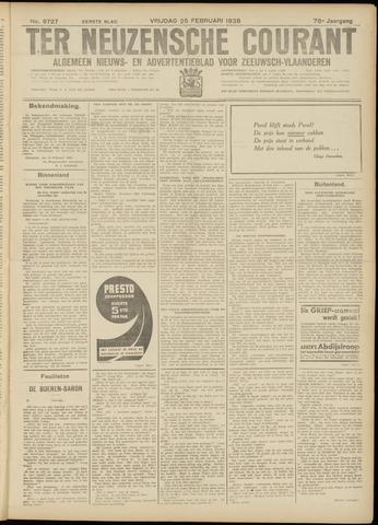 Ter Neuzensche Courant. Algemeen Nieuws- en Advertentieblad voor Zeeuwsch-Vlaanderen / Neuzensche Courant ... (idem) / (Algemeen) nieuws en advertentieblad voor Zeeuwsch-Vlaanderen 1938-02-25