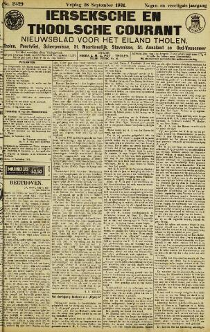 Ierseksche en Thoolsche Courant 1931-09-18