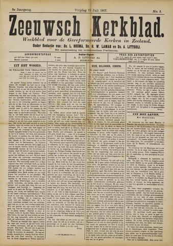Zeeuwsche kerkbode, weekblad gewijd aan de belangen der gereformeerde kerken/ Zeeuwsch kerkblad 1907-07-12
