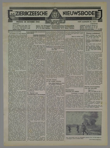 Zierikzeesche Nieuwsbode 1942-10-30