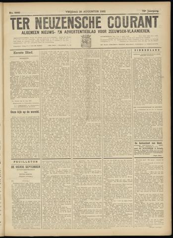 Ter Neuzensche Courant. Algemeen Nieuws- en Advertentieblad voor Zeeuwsch-Vlaanderen / Neuzensche Courant ... (idem) / (Algemeen) nieuws en advertentieblad voor Zeeuwsch-Vlaanderen 1932-08-26