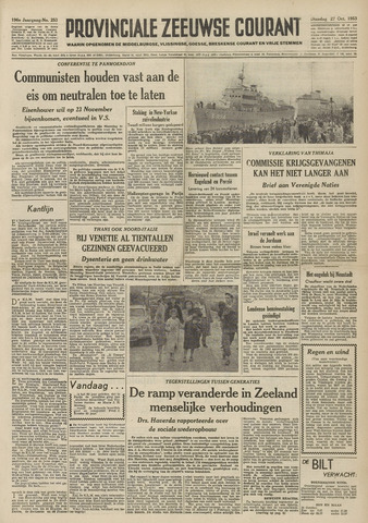 Provinciale Zeeuwse Courant 1953-10-27