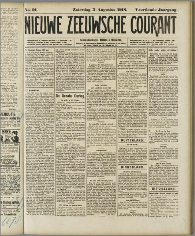 Nieuwe Zeeuwsche Courant 1918-08-03