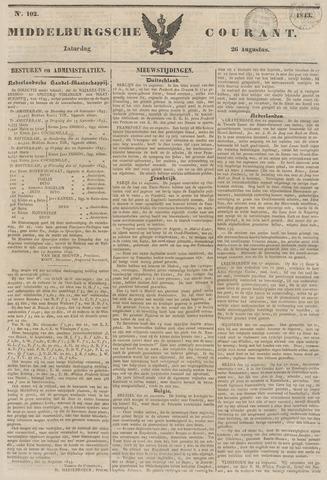 Middelburgsche Courant 1843-08-26