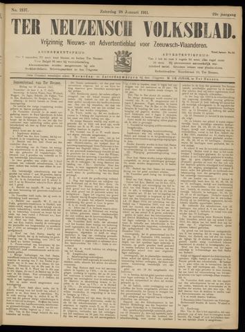 Ter Neuzensch Volksblad. Vrijzinnig nieuws- en advertentieblad voor Zeeuwsch- Vlaanderen / Zeeuwsch Nieuwsblad. Nieuws- en advertentieblad voor Zeeland 1911-01-28