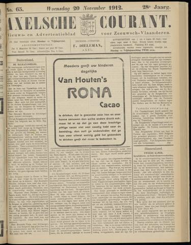 Axelsche Courant 1912-11-20