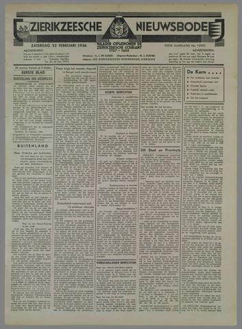 Zierikzeesche Nieuwsbode 1936-02-22