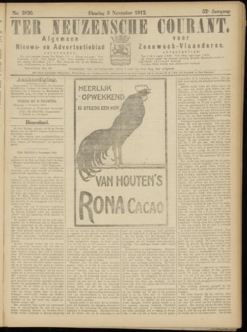 Ter Neuzensche Courant. Algemeen Nieuws- en Advertentieblad voor Zeeuwsch-Vlaanderen / Neuzensche Courant ... (idem) / (Algemeen) nieuws en advertentieblad voor Zeeuwsch-Vlaanderen 1912-11-05