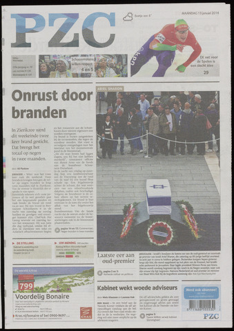 Provinciale Zeeuwse Courant 2014-01-13
