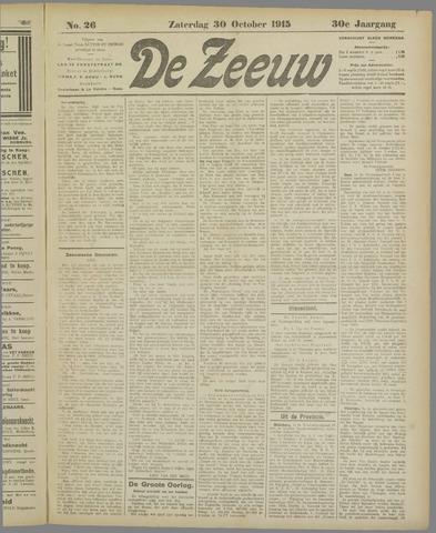 De Zeeuw. Christelijk-historisch nieuwsblad voor Zeeland 1915-10-30