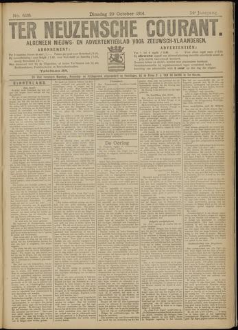 Ter Neuzensche Courant. Algemeen Nieuws- en Advertentieblad voor Zeeuwsch-Vlaanderen / Neuzensche Courant ... (idem) / (Algemeen) nieuws en advertentieblad voor Zeeuwsch-Vlaanderen 1914-10-20