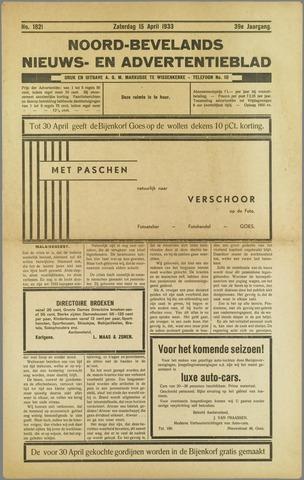 Noord-Bevelands Nieuws- en advertentieblad 1933-04-15