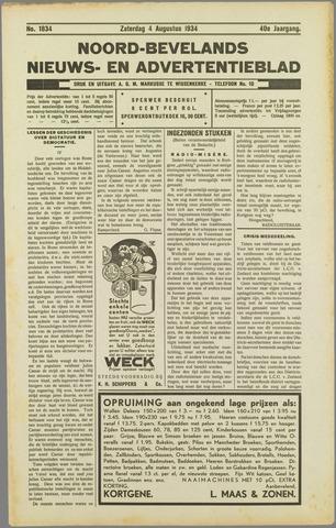 Noord-Bevelands Nieuws- en advertentieblad 1934-08-04