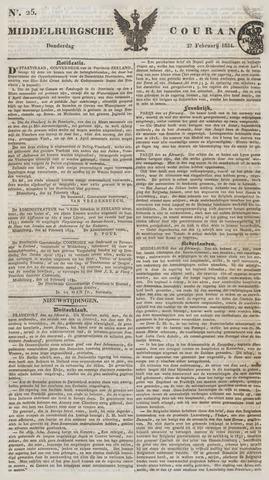 Middelburgsche Courant 1834-02-27