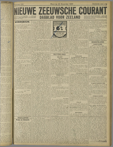 Nieuwe Zeeuwsche Courant 1920-11-22