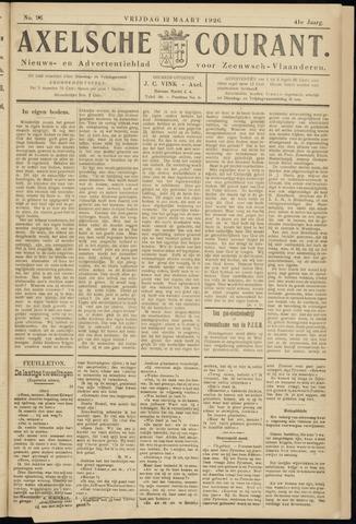 Axelsche Courant 1926-03-12