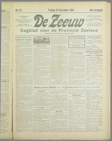 De Zeeuw. Christelijk-historisch nieuwsblad voor Zeeland 1929-11-22
