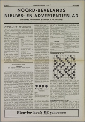 Noord-Bevelands Nieuws- en advertentieblad 1972-10-12
