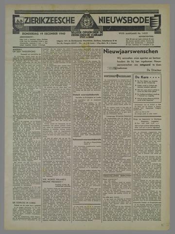 Zierikzeesche Nieuwsbode 1940-12-19