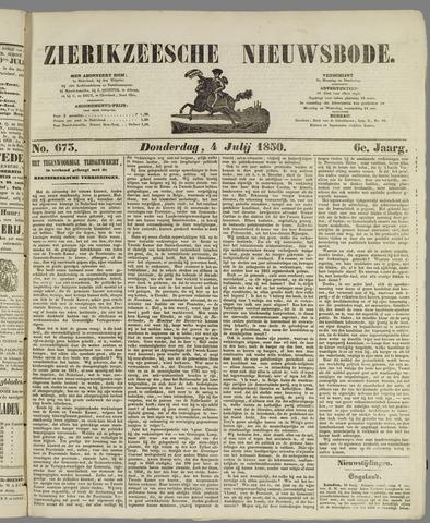 Zierikzeesche Nieuwsbode 1850-07-04
