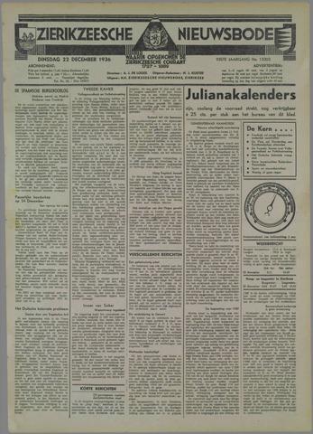 Zierikzeesche Nieuwsbode 1936-12-22