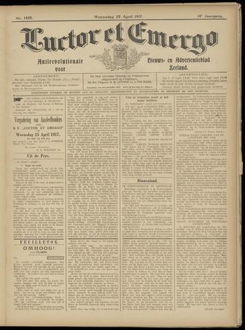 Luctor et Emergo. Antirevolutionair nieuws- en advertentieblad voor Zeeland / Zeeuwsch-Vlaanderen. Orgaan ter verspreiding van de christelijke beginselen in Zeeuwsch-Vlaanderen 1917-04-25