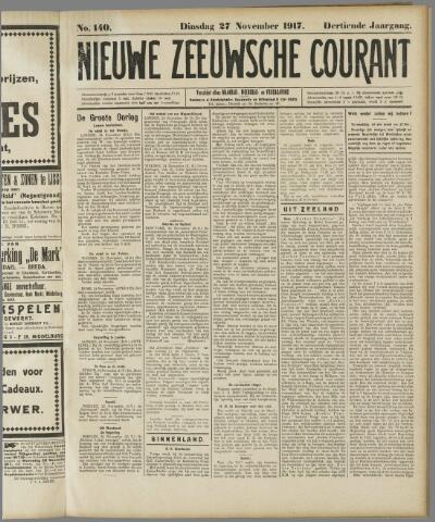 Nieuwe Zeeuwsche Courant 1917-11-27