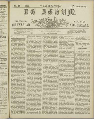 De Zeeuw. Christelijk-historisch nieuwsblad voor Zeeland 1912-11-08