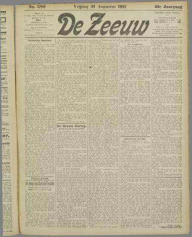 De Zeeuw. Christelijk-historisch nieuwsblad voor Zeeland 1917-08-31