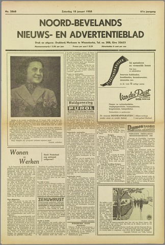 Noord-Bevelands Nieuws- en advertentieblad 1958-01-18