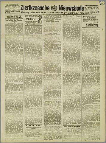 Zierikzeesche Nieuwsbode 1924-11-26