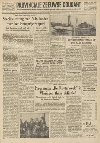 Provinciale Zeeuwse Courant 1957-06-21
