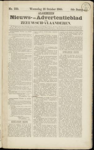 Ter Neuzensche Courant. Algemeen Nieuws- en Advertentieblad voor Zeeuwsch-Vlaanderen / Neuzensche Courant ... (idem) / (Algemeen) nieuws en advertentieblad voor Zeeuwsch-Vlaanderen 1865-10-18