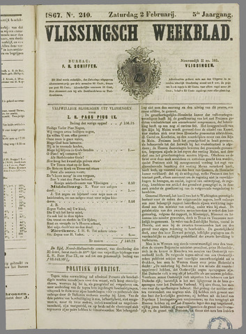 Vlissings Weekblad 1867-02-02