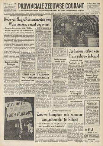 Provinciale Zeeuwse Courant 1956-10-29