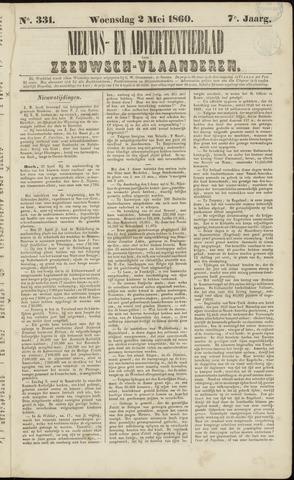 Ter Neuzensche Courant. Algemeen Nieuws- en Advertentieblad voor Zeeuwsch-Vlaanderen / Neuzensche Courant ... (idem) / (Algemeen) nieuws en advertentieblad voor Zeeuwsch-Vlaanderen 1860-05-02