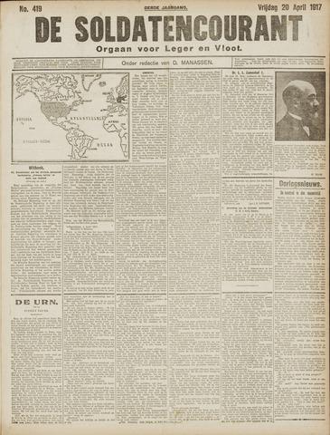 De Soldatencourant. Orgaan voor Leger en Vloot 1917-04-20