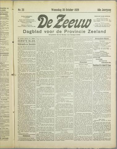 De Zeeuw. Christelijk-historisch nieuwsblad voor Zeeland 1929-10-30