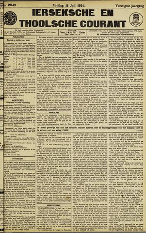 Ierseksche en Thoolsche Courant 1924-07-11