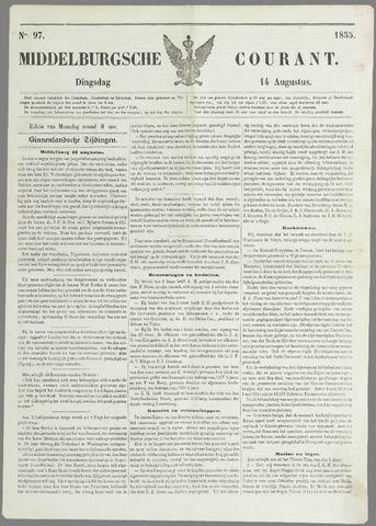 Middelburgsche Courant 1855-08-14