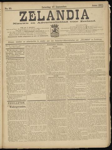 Zelandia. Nieuws-en advertentieblad voor Zeeland | edities: Het Land van Hulst en De Vier Ambachten 1902-09-27