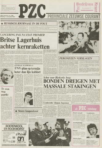 Provinciale Zeeuwse Courant 1983-11-01