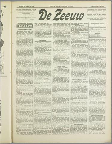 De Zeeuw. Christelijk-historisch nieuwsblad voor Zeeland 1934-08-14