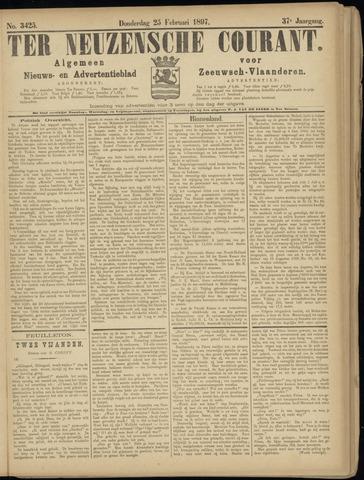 Ter Neuzensche Courant. Algemeen Nieuws- en Advertentieblad voor Zeeuwsch-Vlaanderen / Neuzensche Courant ... (idem) / (Algemeen) nieuws en advertentieblad voor Zeeuwsch-Vlaanderen 1897-02-25